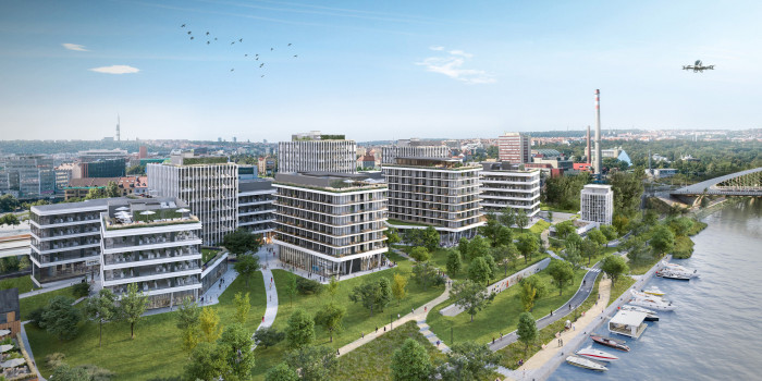 Skanska Buys Office Building Project in Prague